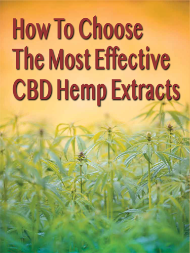 Choose The Most Effective CBD Hemp Extracts eBook + Discount